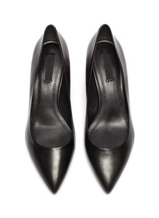 Detail View - Click To Enlarge - ALEXANDERWANG - 'Simona' cutout heel leather pumps