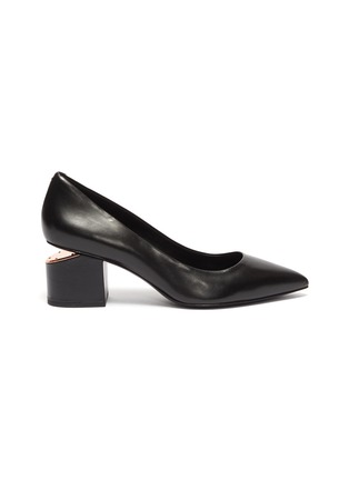 Main View - Click To Enlarge - ALEXANDERWANG - 'Simona' cutout heel leather pumps