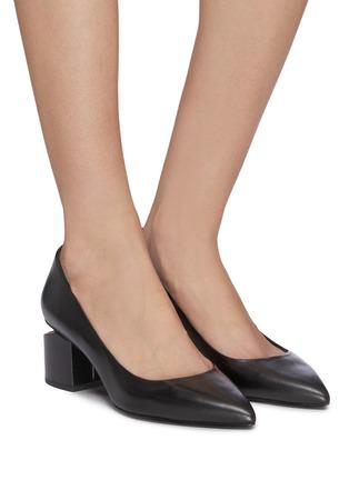 Figure View - Click To Enlarge - ALEXANDERWANG - 'Simona' cutout heel leather pumps