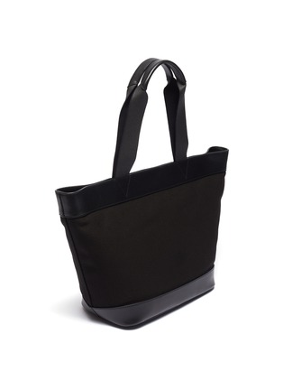 Detail View - Click To Enlarge - alexanderwang - Leather border large canvas tote