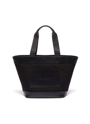 Main View - Click To Enlarge - alexanderwang - Leather border large canvas tote