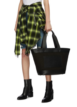 Figure View - Click To Enlarge - alexanderwang - Leather border large canvas tote