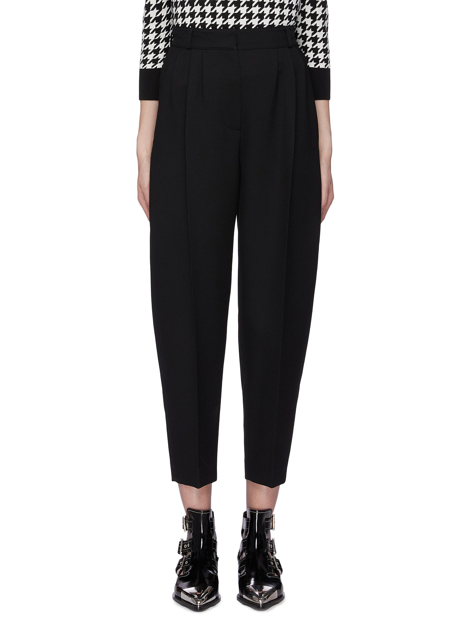shop Alexander Mcqueen Pleated tapered suiting pants online