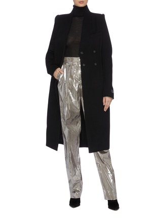 Figure View - Click To Enlarge - ZAID AFFAS - Tapered metallic pants