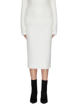 Main View - Click To Enlarge - ZAID AFFAS - Mohair pencil skirt