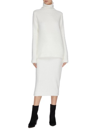 Figure View - Click To Enlarge - ZAID AFFAS - Mohair pencil skirt
