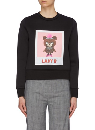 Main View - Click To Enlarge - NEIL BARRETT - 'Lady B' slogan graphic print sweatshirt