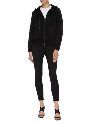 Figure View - Click To Enlarge - NEIL BARRETT - 'Travel' hook trim scuba jersey zip hoodie