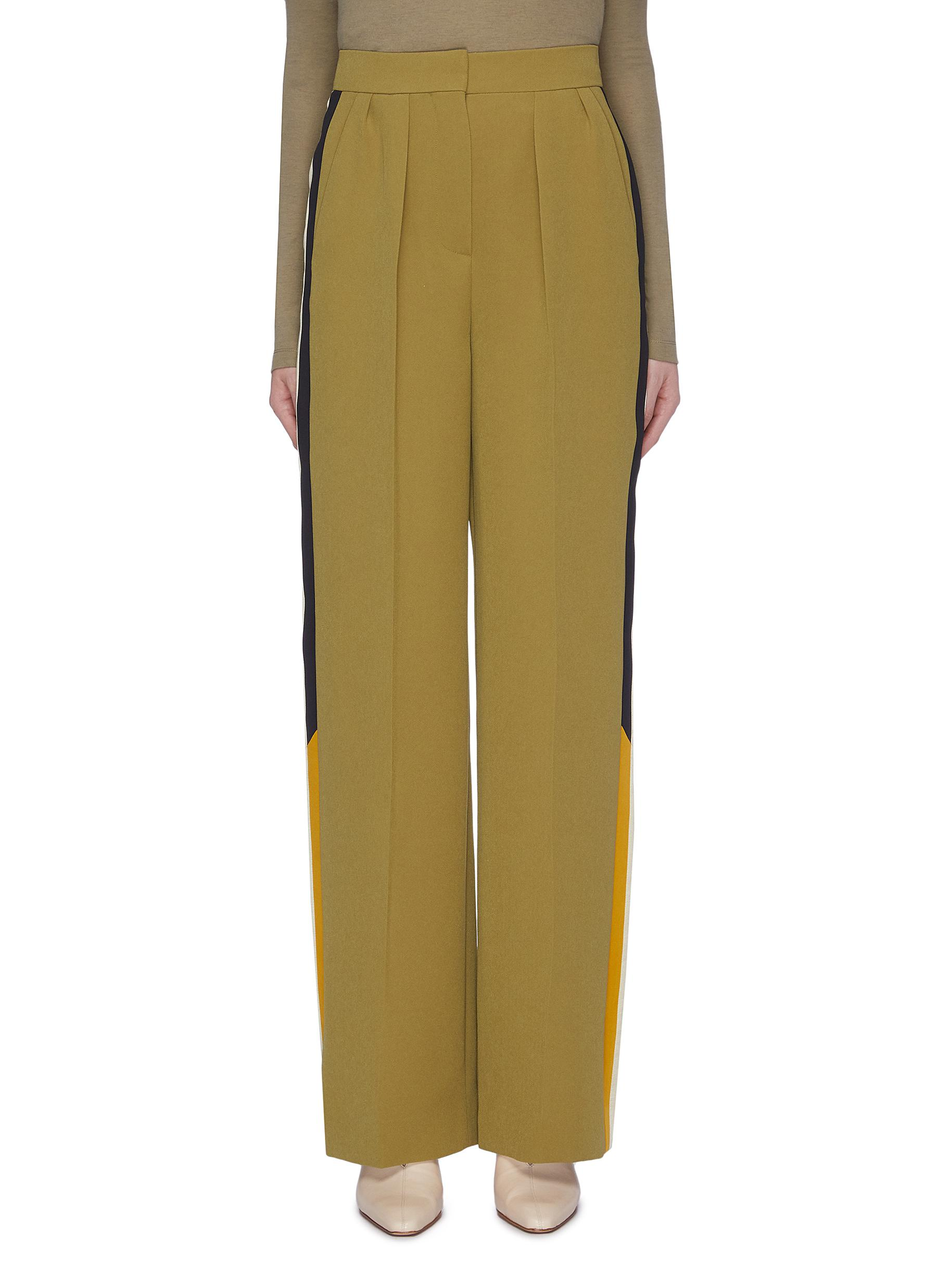 Esca colourblock stripe outseam suiting pants by Roksanda