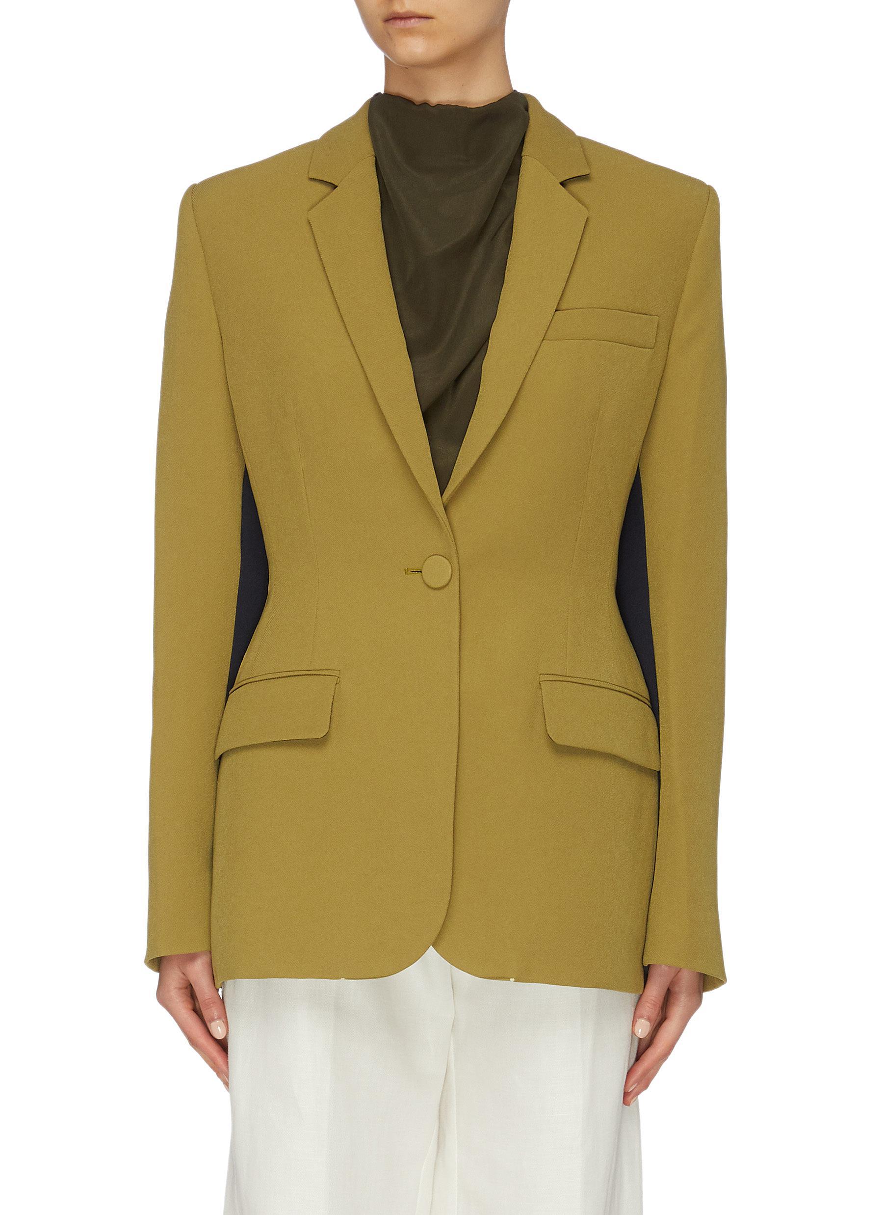 Akira colourblock inseam blazer by Roksanda