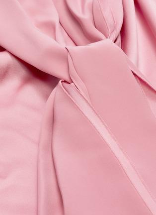 - ROKSANDA - 'Merlin' sash tie neck silk satin sleeveless top