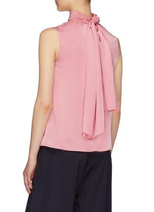 Back View - Click To Enlarge - ROKSANDA - 'Merlin' sash tie neck silk satin sleeveless top