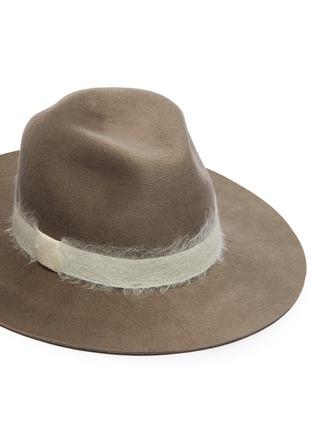 Detail View - Click To Enlarge - EUGENIA KIM - 'Georgina' mohair band wool felt fedora hat