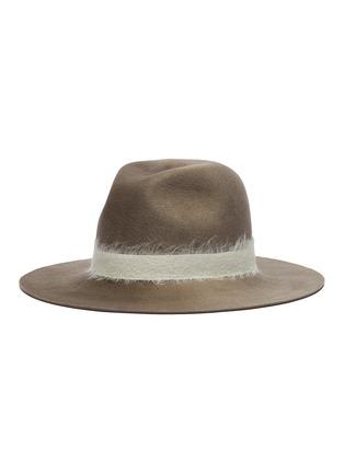 Main View - Click To Enlarge - EUGENIA KIM - 'Georgina' mohair band wool felt fedora hat