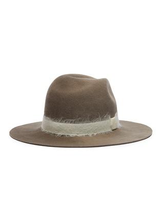 Figure View - Click To Enlarge - EUGENIA KIM - 'Georgina' mohair band wool felt fedora hat
