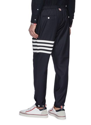 Back View - Click To Enlarge - THOM BROWNE - Stripe track pants