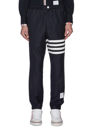 Main View - Click To Enlarge - THOM BROWNE - Stripe track pants