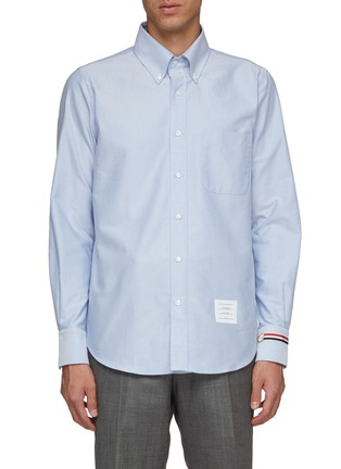 Main View - Click To Enlarge - THOM BROWNE - Trompe l'œil watch Oxford shirt