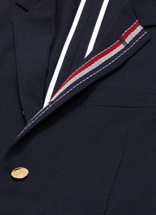 - THOM BROWNE - Stripe placket twill soft blazer