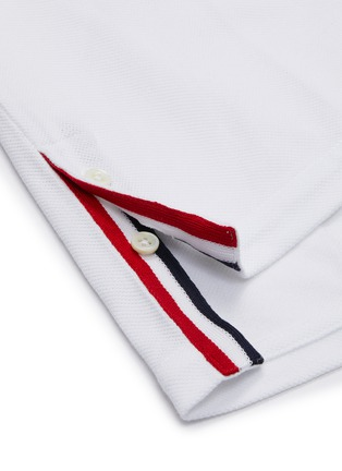 - THOM BROWNE - Stripe back polo shirt