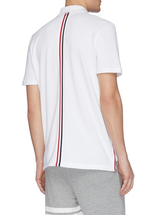 Back View - Click To Enlarge - THOM BROWNE - Stripe back polo shirt