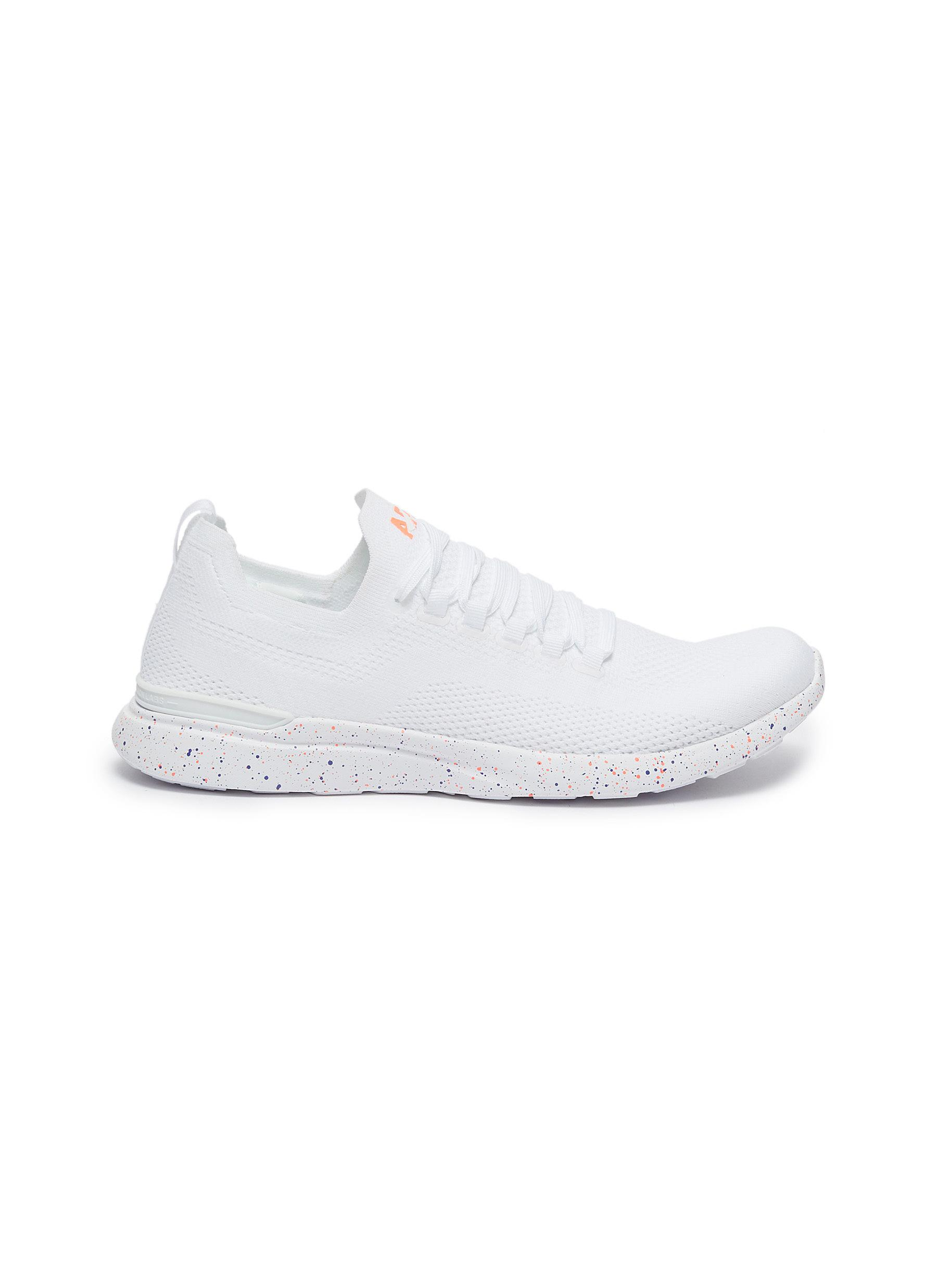 Techloom Breeze speckle print outsole knit sneakers by Athletic Propulsion Labs