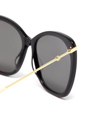 Detail View - Click To Enlarge - GUCCI - Metal temple oversized acetate butterfly sunglasses