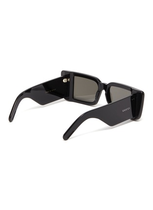 Figure View - Click To Enlarge - GUCCI - Acetate rectangular frame sunglasses