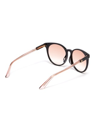 Figure View - Click To Enlarge - GUCCI - Colourblock acetate round sunglasses