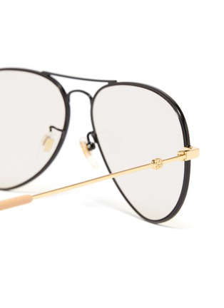 Detail View - Click To Enlarge - GUCCI - Metal aviator sunglasses