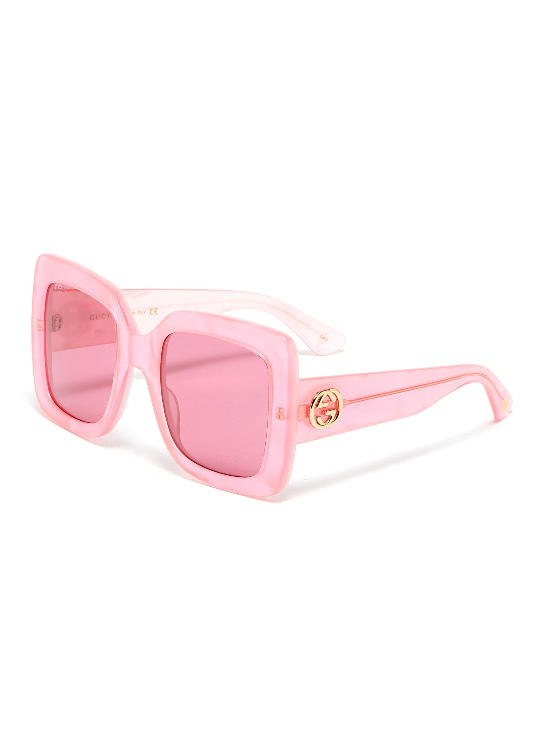 bfc32e3f9 GUCCI | Acetate oversized square sunglasses | Women | Lane Crawford