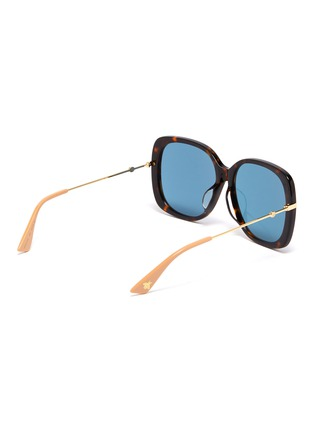 Figure View - Click To Enlarge - GUCCI - Metal temple tortoiseshell acetate butterfly sunglasses