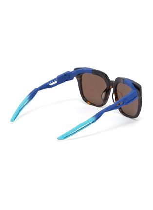 Figure View - Click To Enlarge - BALENCIAGA - 'Hybrid' tortoiseshell acetate front square sunglasses