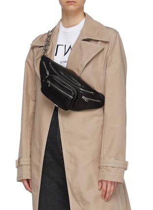 Figure View - Click To Enlarge - ALEXANDERWANG - 'Attica' leather bum bag