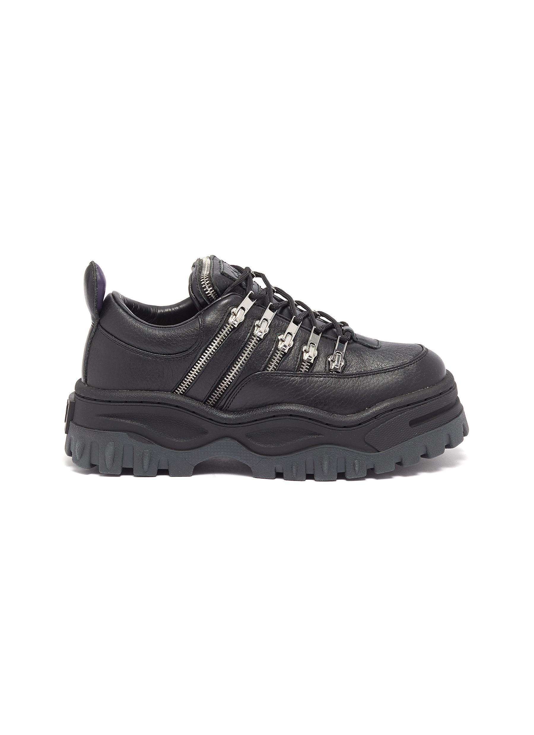 Angel Stash zip leather chunky sneakers by Eytys