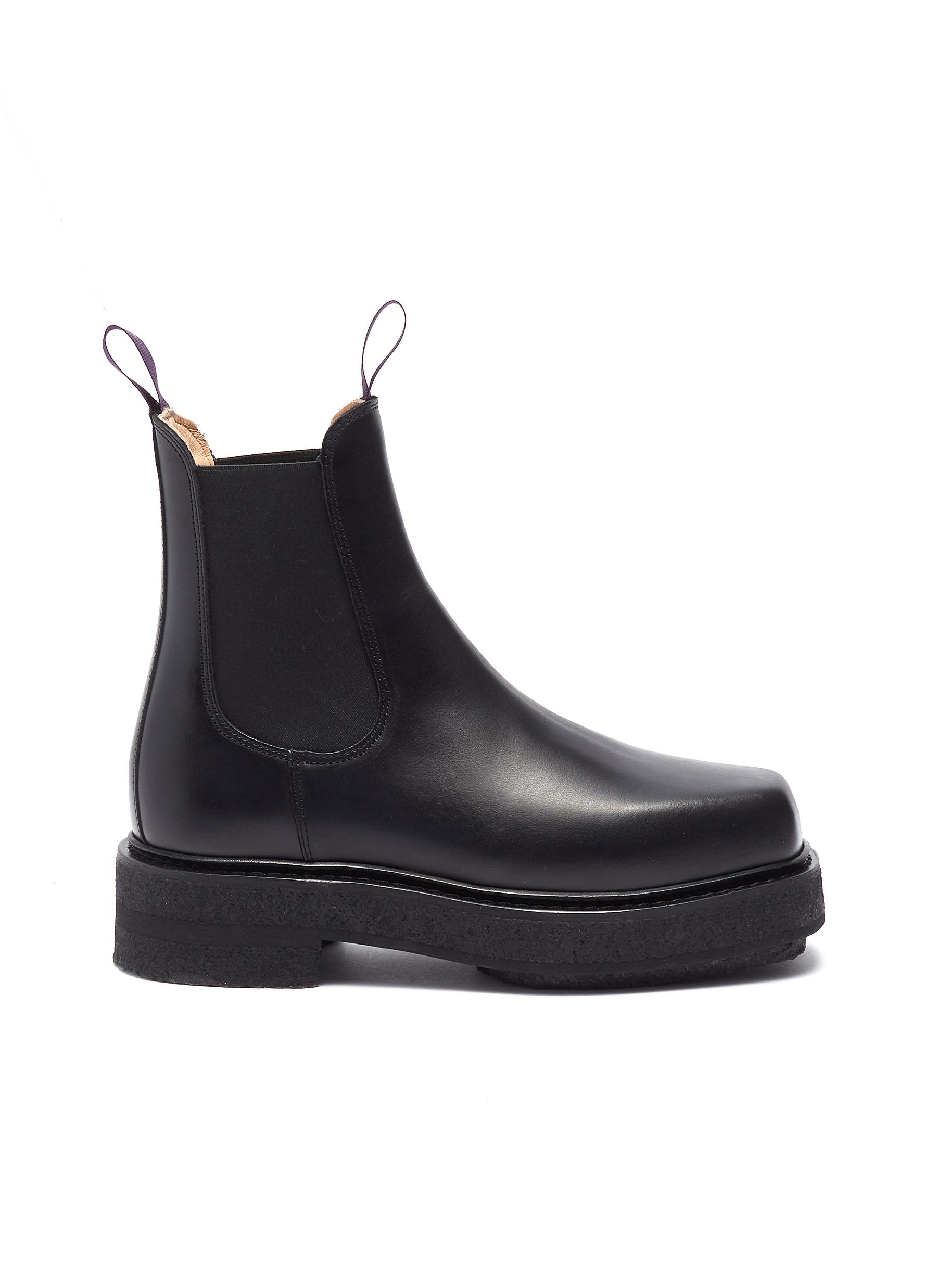 Ortega leather Chelsea boots by Eytys