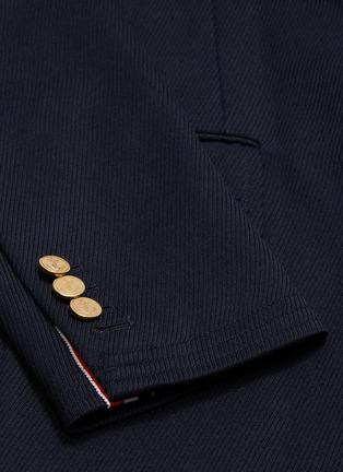 - THOM BROWNE - Stripe placket twill coat
