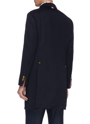 Back View - Click To Enlarge - THOM BROWNE - Stripe placket twill coat