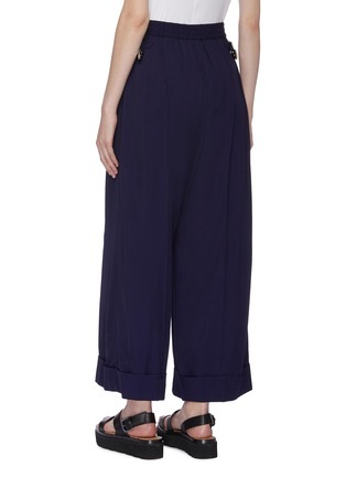 Back View - Click To Enlarge - TOGA ARCHIVES - Folded cuff gabardine wide leg pants
