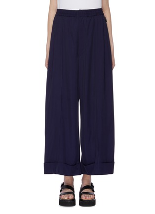Main View - Click To Enlarge - TOGA ARCHIVES - Folded cuff gabardine wide leg pants