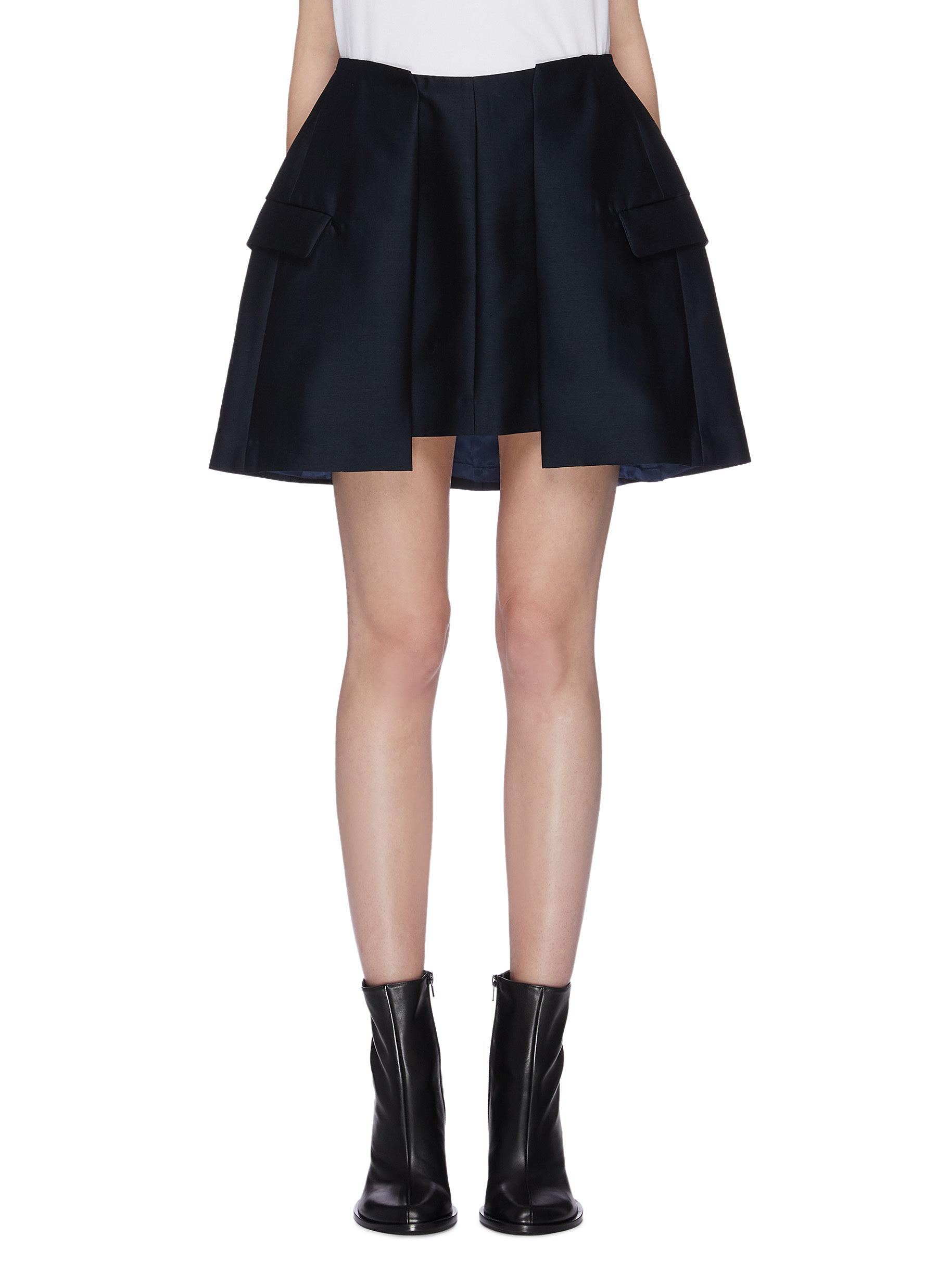 Pleated wool-silk skirt by Toga Archives