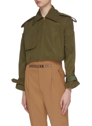 Detail View - Click To Enlarge - TOGA ARCHIVES - Two-in-one trench coat