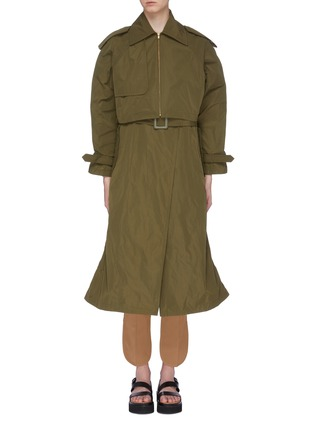 Main View - Click To Enlarge - TOGA ARCHIVES - Two-in-one trench coat