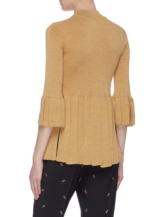 Back View - Click To Enlarge - TOGA ARCHIVES - Fringe hem wool top