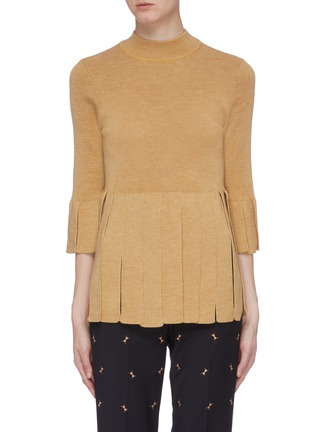 Main View - Click To Enlarge - TOGA ARCHIVES - Fringe hem wool top
