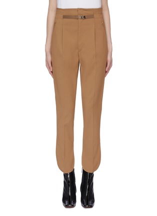 Main View - Click To Enlarge - TOGA ARCHIVES - Waist tab petal cuff suiting pants