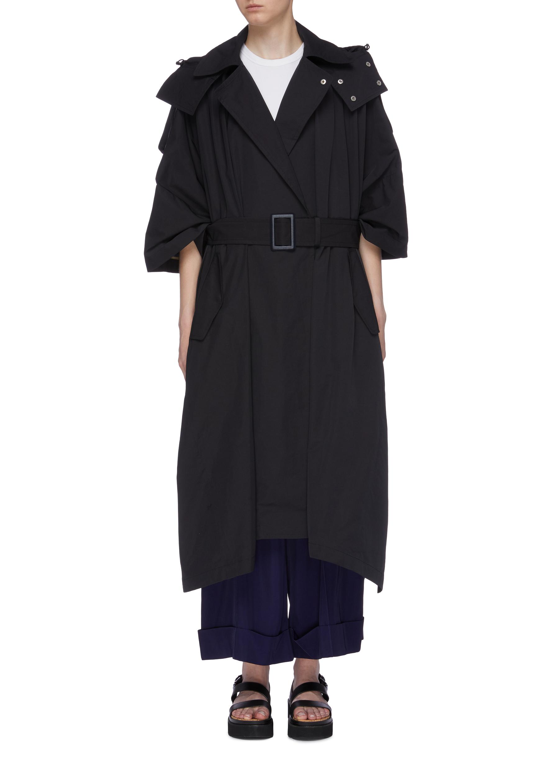 Belted hooded trench coat by Toga Archives