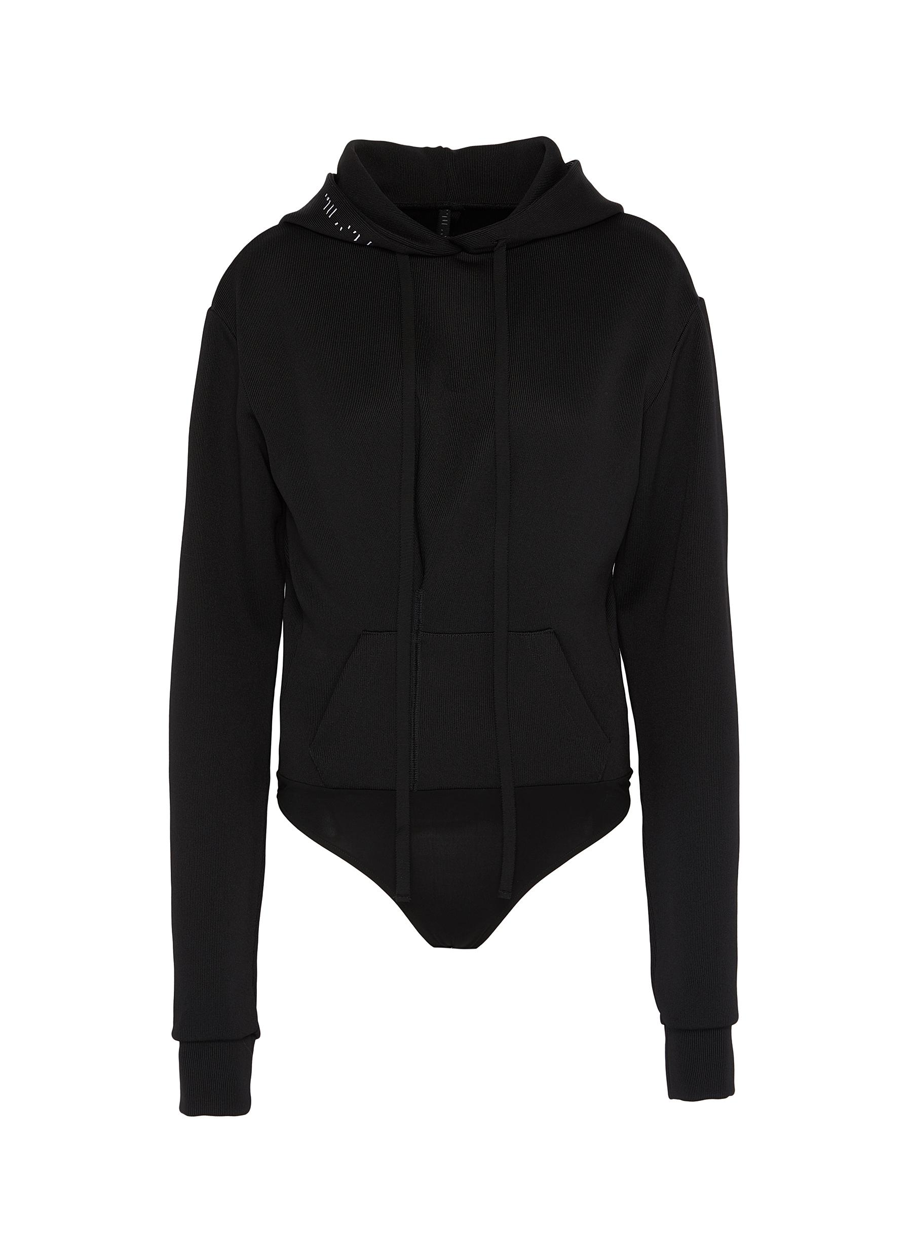 Cropped hoodie by Ben Taverniti Unravel Project