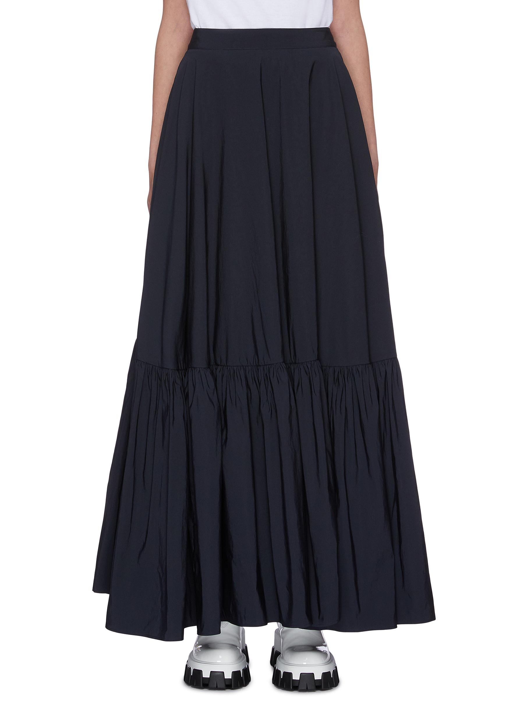 Tiered pleated skirt by Plan C