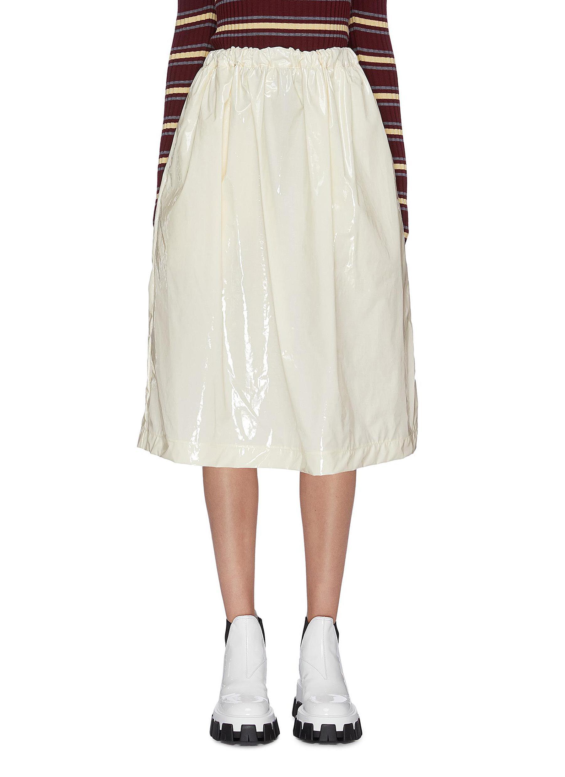 Gathered vinyl skirt by Plan C